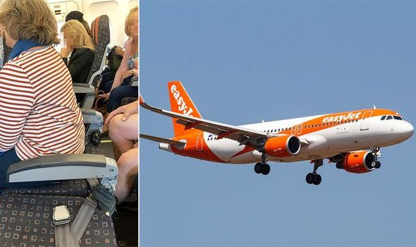 EasyJet flight to Geneva with backless plane seats