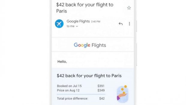 Google refunds the difference if flights become cheaper