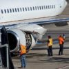 United Airlines engine violently shakes during flight