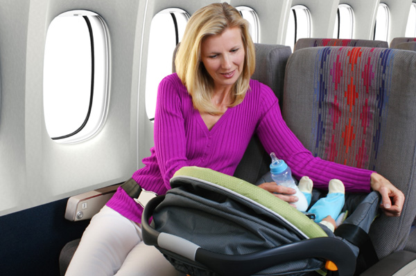 Flying with kids: all about bringing car seats on board